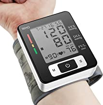 Blood Pressure Monitor Fully Automatic Accurate Wrist Blood Pressure Cuff Monitor with Wristband Automatic Wrist Electronic Blood Pressure Monitor Perfect for Health Monitoring
