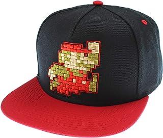 Nintendo Super Mario Hat Pixel Mario Character Black Snapback Hat - One Size b22952dbd79e