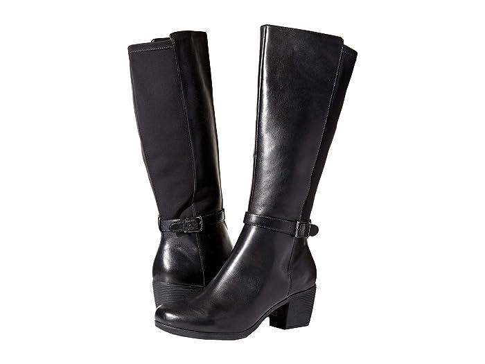 Clarks  Un Lindel Hi (Black Leather/Textile Combi) Womens  Boots