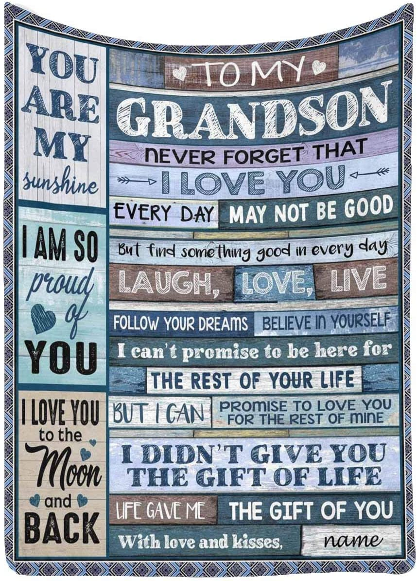 Custom Name Message Ranking TOP12 Love Letter Blanket to New popularity from Gran Grandson My