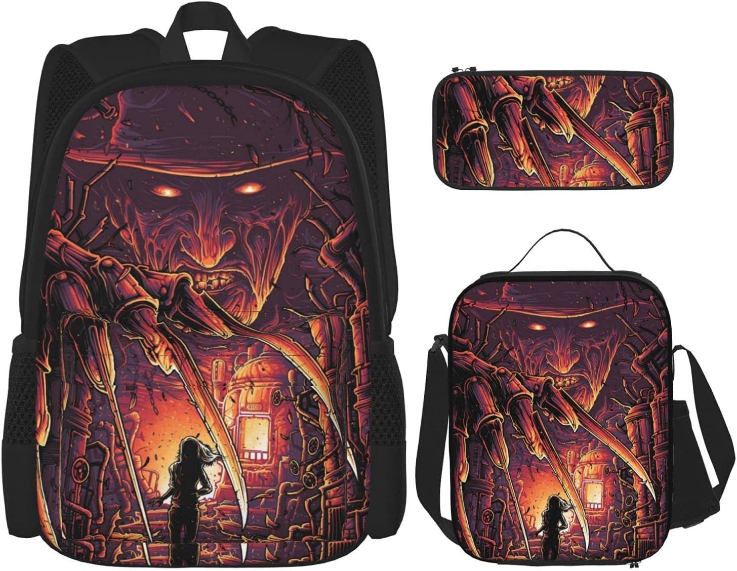 Freddy Krueger Anime 2021 fashione Backpack 2021new shipping free shipping + Pe Set 3-Piece
