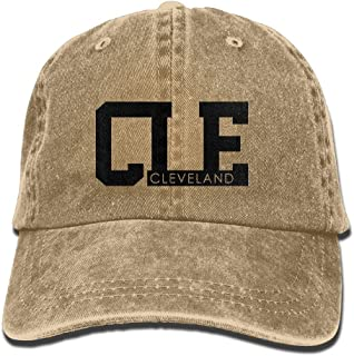 SARA NELL Unisex Adult Cleveland Vintage Adjustable Baseball Cap Denim Dad Hat
