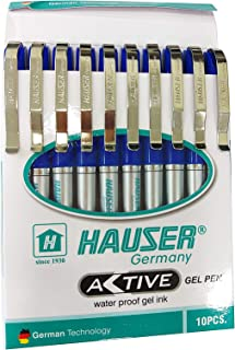 Hauser Active Gel Pen Blue Pack Of - 10