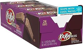 KIT KAT DUOS Mocha Crème and Chocolate Wafer Candy, Bulk, 1.5 oz Bars (24 Count)