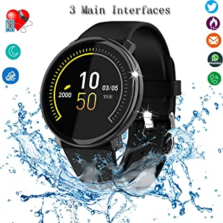 UWINMO Smart Watch, Fitness Tracker with Heart Rate & Blood Pressure & Sleep Monitor for Android & iOS, Waterproof Activity Tracker Watch with Calorie Counter & Pedometer, Sport Watch for Women Men