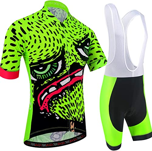 BXIO Cartoon Cycling Clothing Vêtements Homme Maillots Courts 5D Gel Pad Cuissards À Séchage Rapide MTB Cycling Wear 210