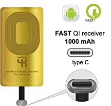 QI Receiver Type C Compatible with Google Pixel 2-2XL- XL - LG V20 - LG G5 - LG Stylo - HTC 10 - Nexus 6P - OnePlus 3-5 - Qi Wireless Receiver - QI Receiver - Type C Wireless Charging Receiver Adapter