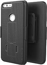 Google Pixel XL Belt Clip Case, Encased (Ultra Thin) Secure-fit Cover w/ ClikLock Holster (Smooth Black)
