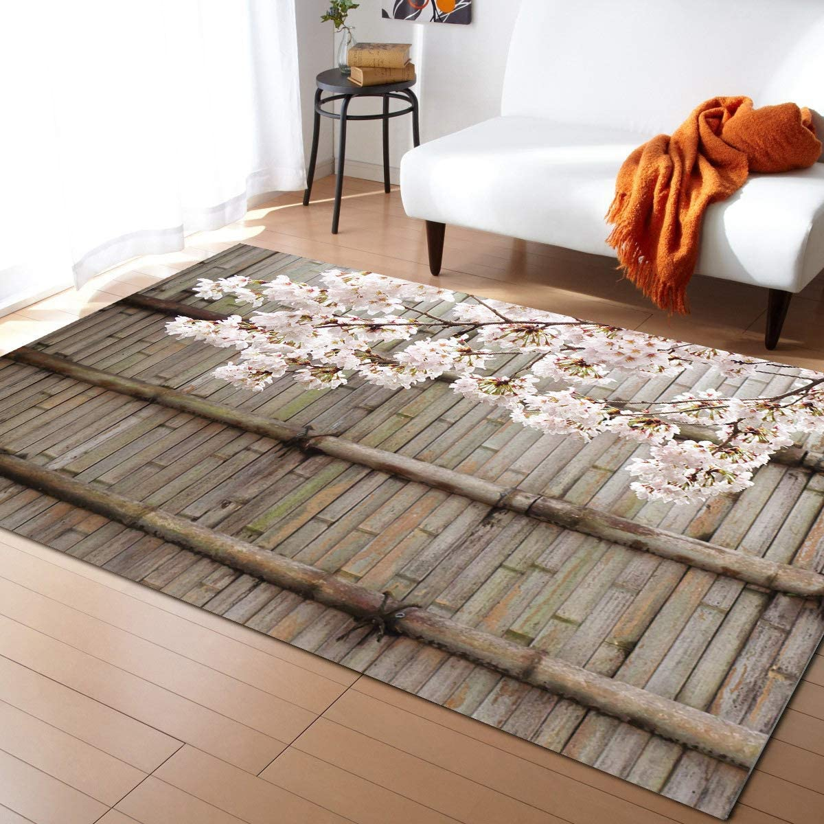 MuswannaA Area Rug for Bedroom Sakura Romantic Living Financial sales sale Leis Room- Al sold out.