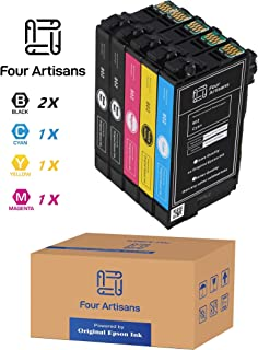 FourArtisans Repackaged Original Epson 802 Ink Cartridges, Original Epson Ink Inside, Work for WF-4730, WF-4720, Wf-4734, WF-4734 Printers (Pack-5 Standard, 2BK C M Y)