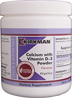 Kirkman Calcium with Vitamin D-3 Powder - Flavored - New, Improved Formula! | 454 gm/ 16 oz