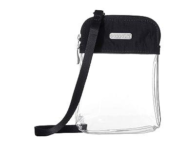 Baggallini Legacy Stadium Bags Clear Bryant Crossbody (Charcoal) Cross Body Handbags