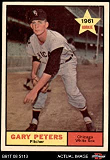 1961 Topps # 303 Gary Peters Chicago White Sox (Baseball Card) Dean's Cards 5 - EX White Sox