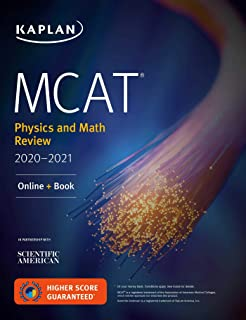 MCAT Physics and Math Review 2020-2021: Online + Book (Kaplan Test Prep)