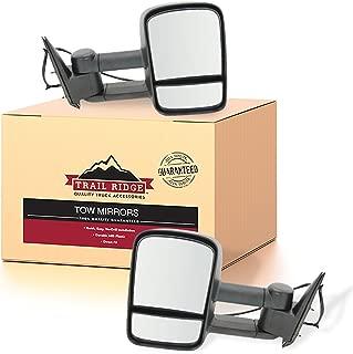 Trail Ridge Tow Mirror Power Heated Textured Black Pair Set for Silverado Sierra