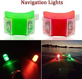 Botepon Marine Boat Bow Lights, Red and Green Led Navigation Lights, Kayak Accessories, Marine Safety Lights Battery Operated for Boat Pontoon Kayak Yacht Motorboat Vessel Dinghy Catamaran