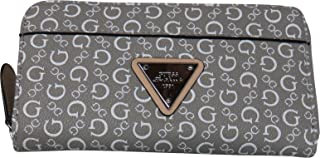 Guess Women's Zip Around Wallet Burbank Dove Grey