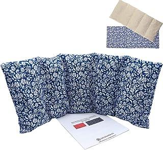 """Cuscino termico """"BLUE GARDEN"""" - con coperchio lavabile - 50 x 20 cm (XL) - pieno di noccioli di ciliegia 800gr - effetto f..."""