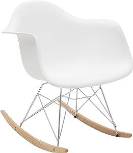 Bianco loft, LF45, Poltrona a Dondolo, Bianco, 62 x 65 x 70 cm