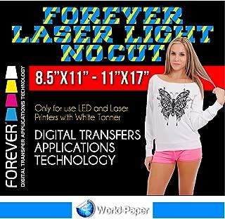 Self-Weeding Laser Heat Transfer Paper FOREVER Laser Light No-Cut Weedless (8.5