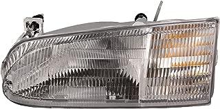 HEADLIGHTSDEPOT Chrome Housing Halogen Left Driver Headlight Compatible With Holiday Rambler Vacationer 1996-2000 Motorhome RV