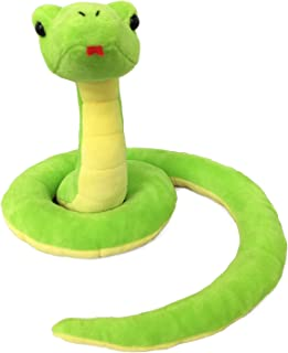 Ice King Bear Lifelike Green Snake Stuffed Animal - Plush Toy (Standing)