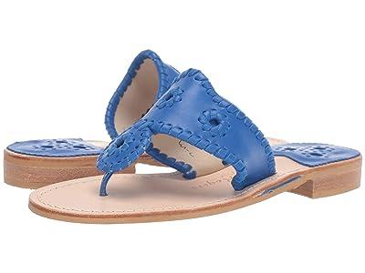 Jack Rogers Jacks Flat Sandal (Cobalt Blue) Women