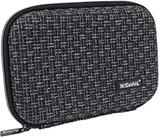 Iksnail Large Capacity Pencil Box Storage Case for Colored Pencils, Gel Pens, Markers, Brushes, Craft Supplies, Eraser - Hard EVA Carrying Pouch Case Only (Black)