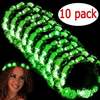 Event & Party Delicious Party Crown Flower Headband Led Light Up Hair Wreath Hairband Garlands Women Halloween Christmas Glowing Wreath For Improving Blood Circulation