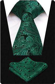 Alizeal Conjunto de corbata con pa/ñuelo de bolsillo y pa/ñuelo floral degradado