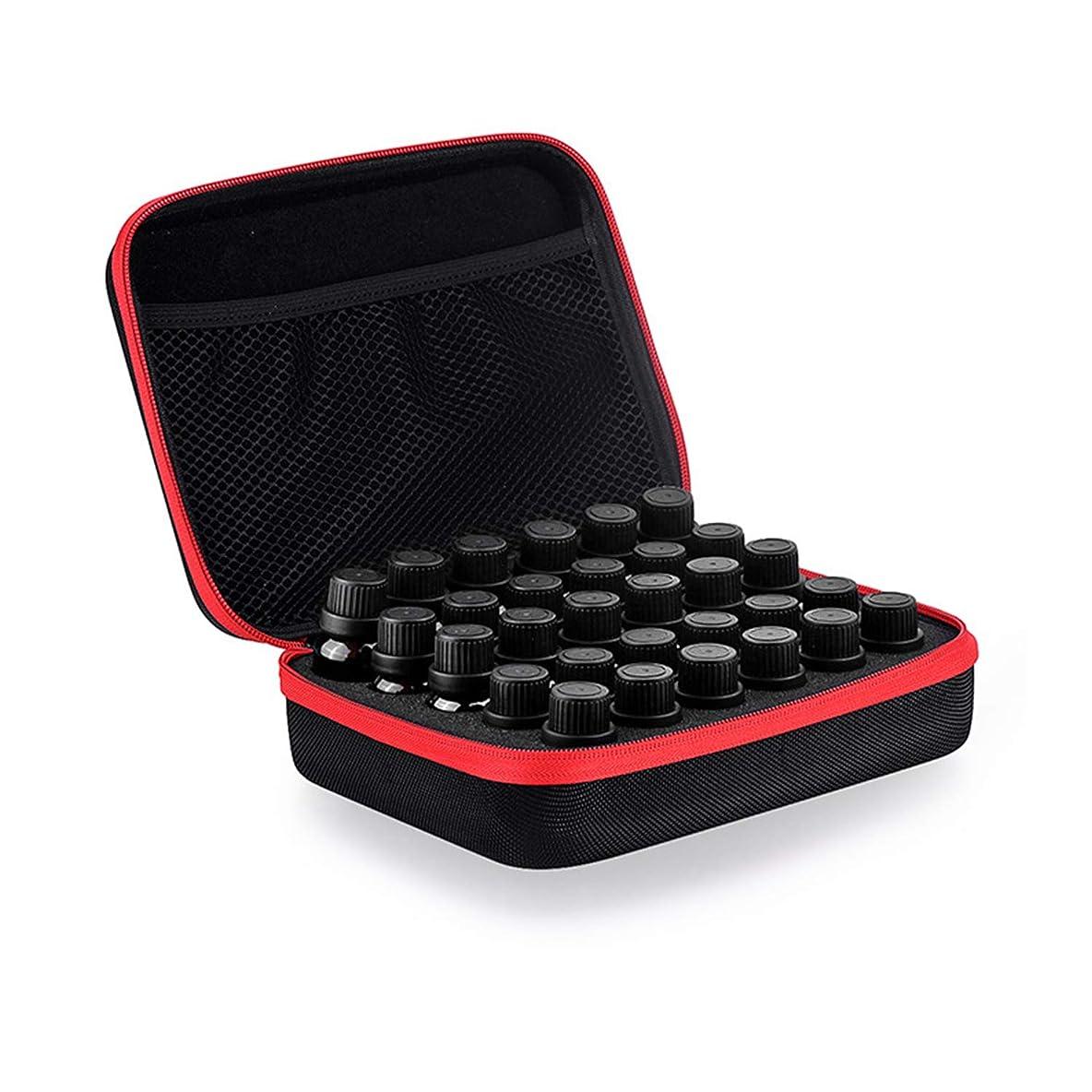 ベックス磨かれた首Coteco 精油 ケース 化粧品袋30スロットボトルエッセンシャルオイルケース用保護5/10/15ミリリットルローラーエッセンシャルオイルバッグ 旅行 キャリング 収納オーガナイザー (赤)