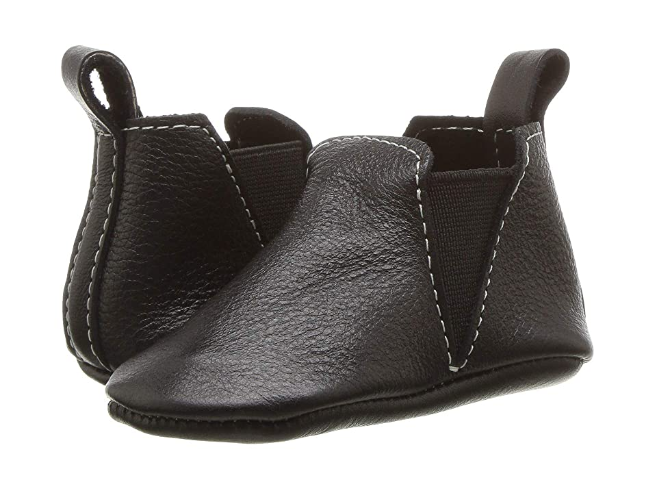 Freshly Picked Soft Sole Chelsea Boot (Infant/Toddler) (Ebony) Kids Shoes