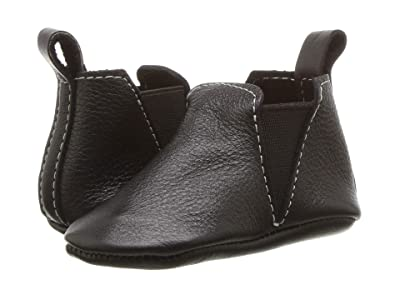 Freshly Picked Soft Sole Chelsea Boot (Infant/Toddler) (Ebony) Kids Shoes