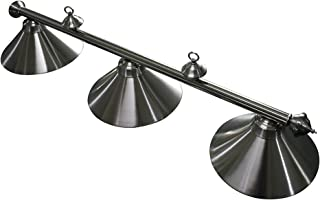 Hathaway Soft Brushed Stainless Steel 3-Shade Billiard Light