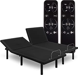Blissful Nights Wall Glide Adjustable Bed Frame with Alexa Voice Control, Massage, USB, Nightlight, Anti-Snore, Zero Gravity, Wireless Remote and No Tools Assembly (Split Cal King)