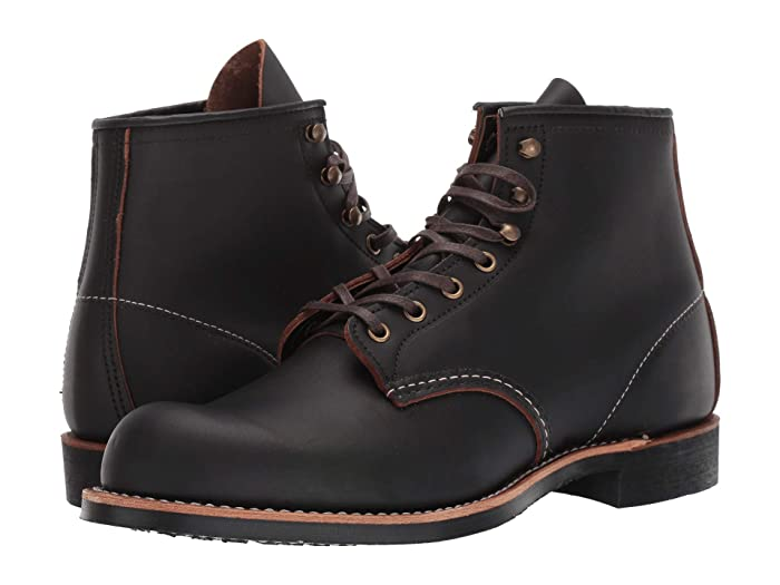 Men's Vintage Workwear Inspired Clothing Red Wing Heritage Blacksmith Black Prairie Mens Lace up casual Shoes $299.99 AT vintagedancer.com