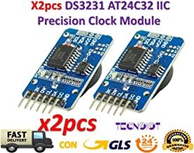 TECNOIOT 2pcs DS3231 AT24C32 IIC Module Precision Clock Module
