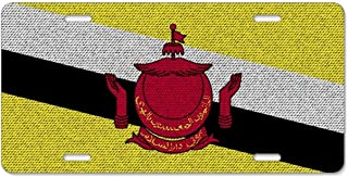 Kefanlk Flags Brunei License Plate Frame Theft-proof Frames Aluminum Board Frames For Men Women