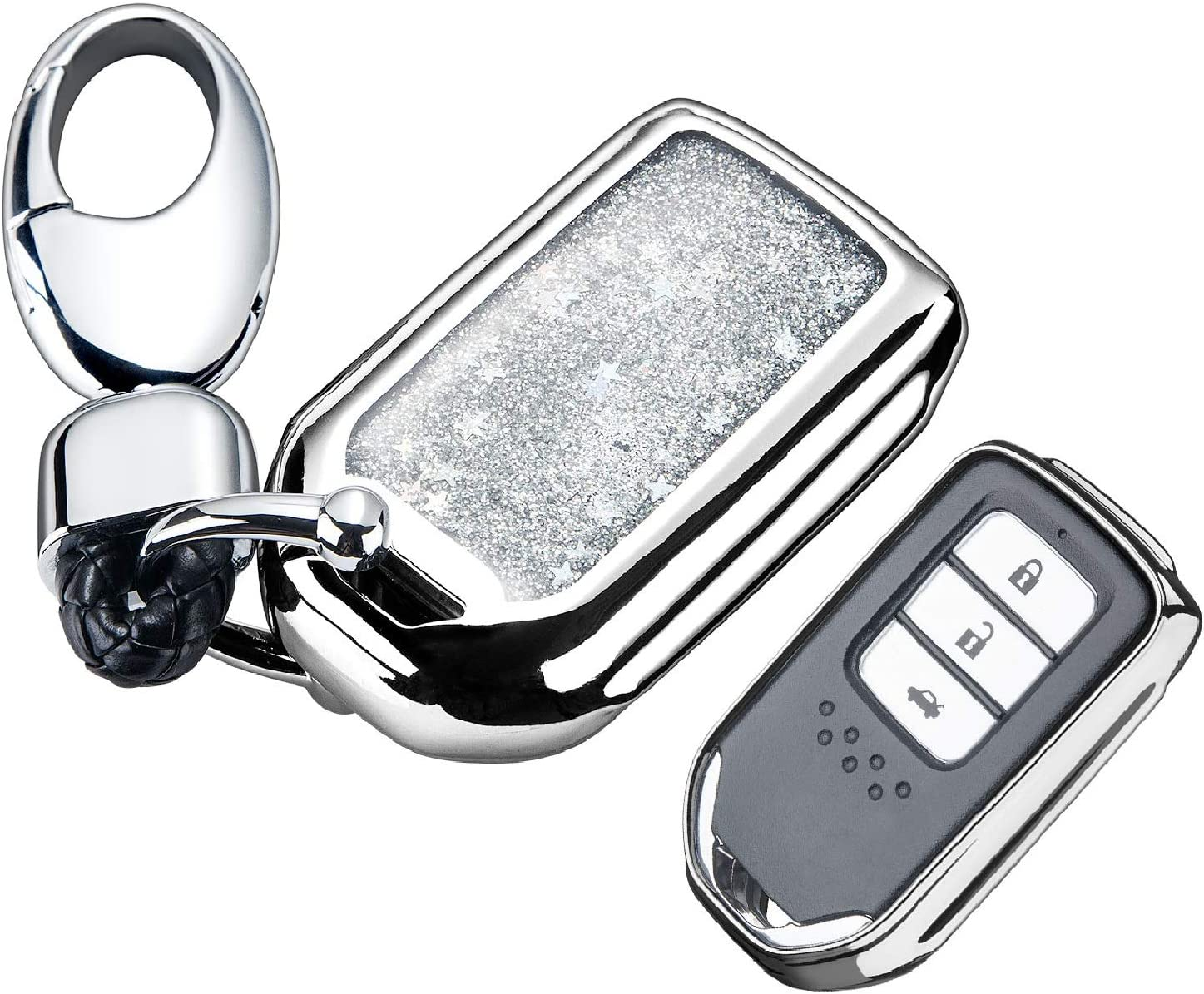 Key Fob Cover with Spring new work one after another Glitter Sparkl Liquid National products Bling Quicksand Flowing