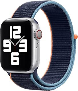 Nylon Loop Band for Apple Watch 44mm / 42mm Series 1/2/3/4 Replacement Strap Mesh Soft Sports Wristband Bracelet - Navy Or...