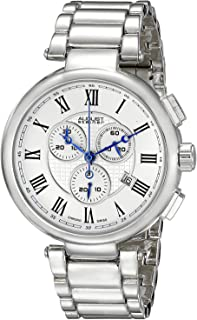 August Steiner Men's White Dial Alloy Chronograph Band Watch - AS8148SS