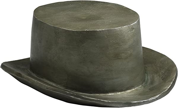 Kathy Kuo Home Monopoly Gentlemans Hat Game Token Sculpture