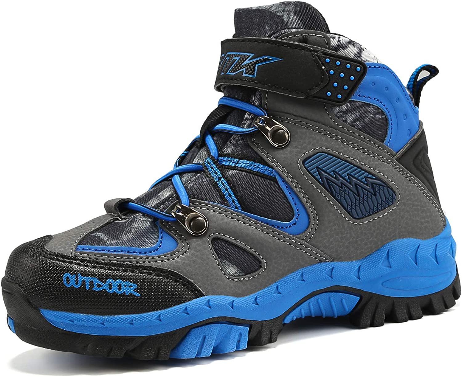 Boys Hiking Boots Kids Outdoor Sports Shoes Climbing Sneaker Comfortable Non-Slip Snow Shoes Hiker Boot Antiskid Steel Buckle Sole