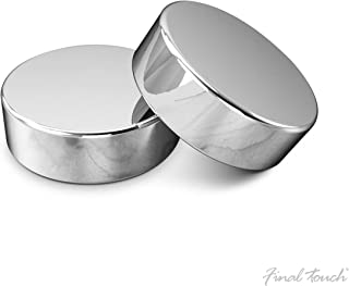 Final Touch Stainless Steel Puck Chiller, Set of 2