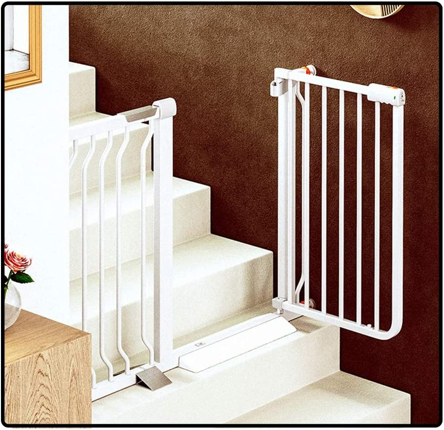 Multi-tama/ño LICHUN Barrera De Seguridad Escalera Puerta for Ni/ños Perros Aislamiento Red Mantenerse Alejado De Cocina//Piso De Arriba//Interior Color : White, Size : W 105-114cm