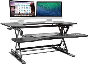 "Halter Black Height Adjustable 36"" Stand up Desk Con"