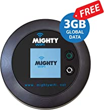 MightyWifi Worldwide high Speed Hotspot with Global 3GB Data for 30 Days, Pocket Mifi, Personal, Reliable, Wireless Internet, Router, No Sim Card, No Roaming, Home, Travel
