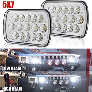 5x7 7x6 H6054 Led Headlights Hi/Low Sealed Beam Rectangular Headlamp for H5054 H6054LL H6014 69822 6052 6053 Chevy Van Jeep Cherokee Trucks 4X4 Offroad