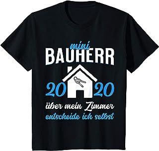 Hausbau Geschenk Shop Kinder Mini Bauherr 2020 - mein Zimmer lustiger Spruch T-Shirt