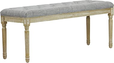 Lux Home Christie's XL French Bench Grey